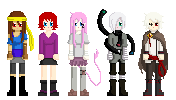 Five Pixel Dolls by glorypaintGR