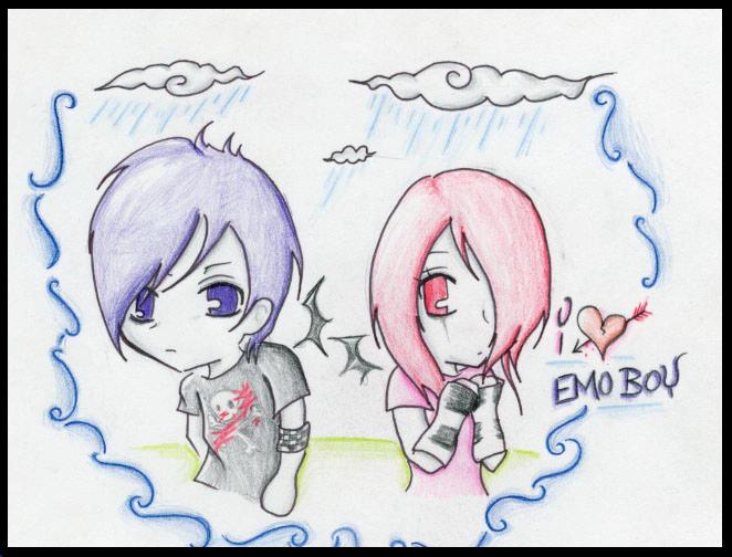 anime drawings emo. anime drawings emo guys. emo love heart drawings. emo love heart drawings.