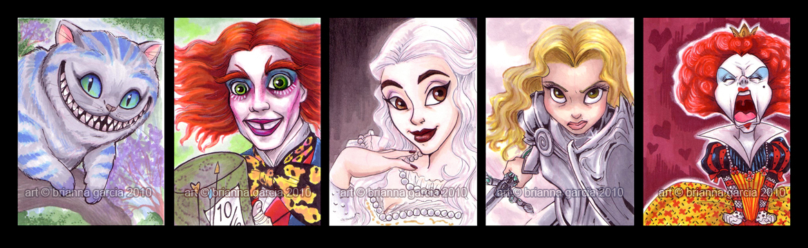 alice sketch cards by briannacherrygarcia
