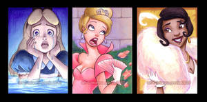 disney sketch cards by briannacherrygarcia