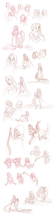 rapunzel sketchdump