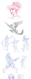tumblr sketchdump by briannacherrygarcia