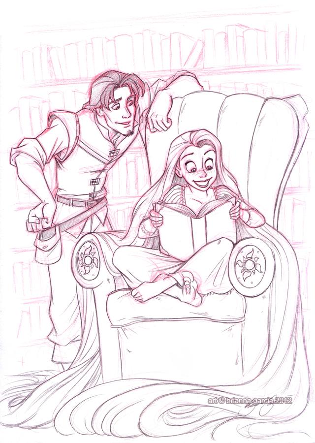 rapunzel and eugene by briannacherrygarcia