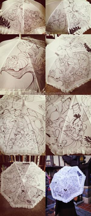 Alice in Wonderland Parasol