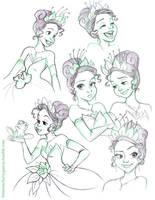 Tiana Sketches by briannacherrygarcia