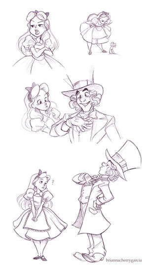 Alice and Hatter Sketches