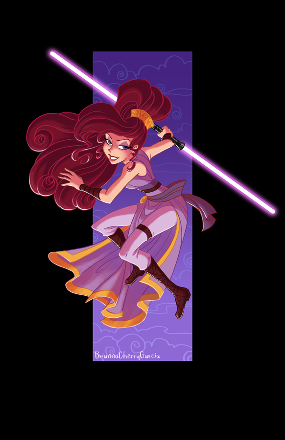 Jedi Meg by briannacherrygarcia