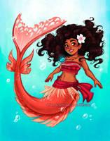 Mermaid Moana by briannacherrygarcia