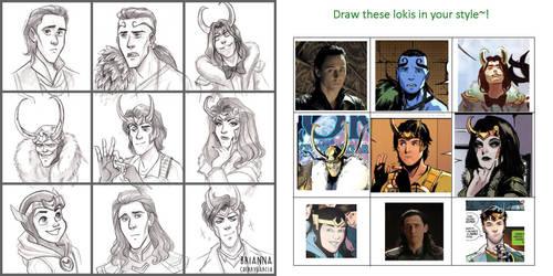 Loki Drawing Challenge