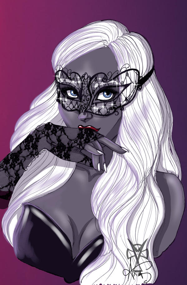 ...The drow behind the mask... by Ax25
