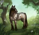 Brabant Horse by Tess-Eisinger