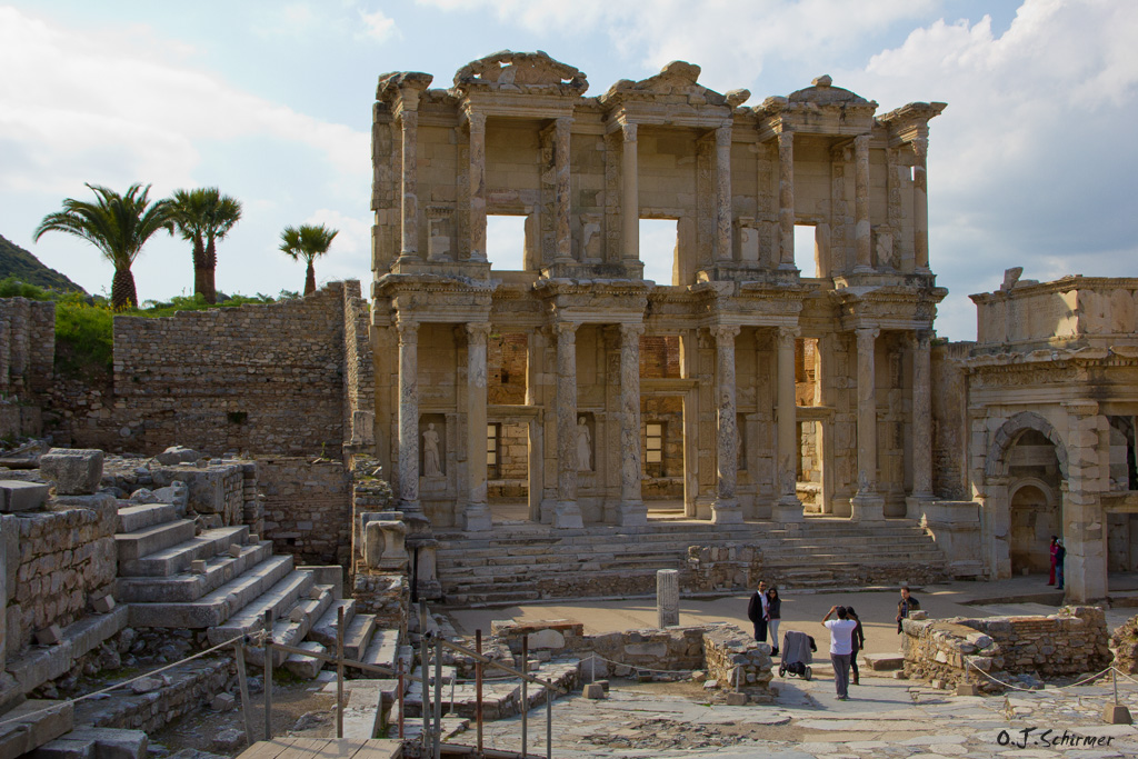The Library of Celsus in Ephesus by Sockrattes