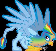 Fast Flashy Feathers -  Rainbow Dash Griffonized