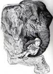 Elaphant with child
