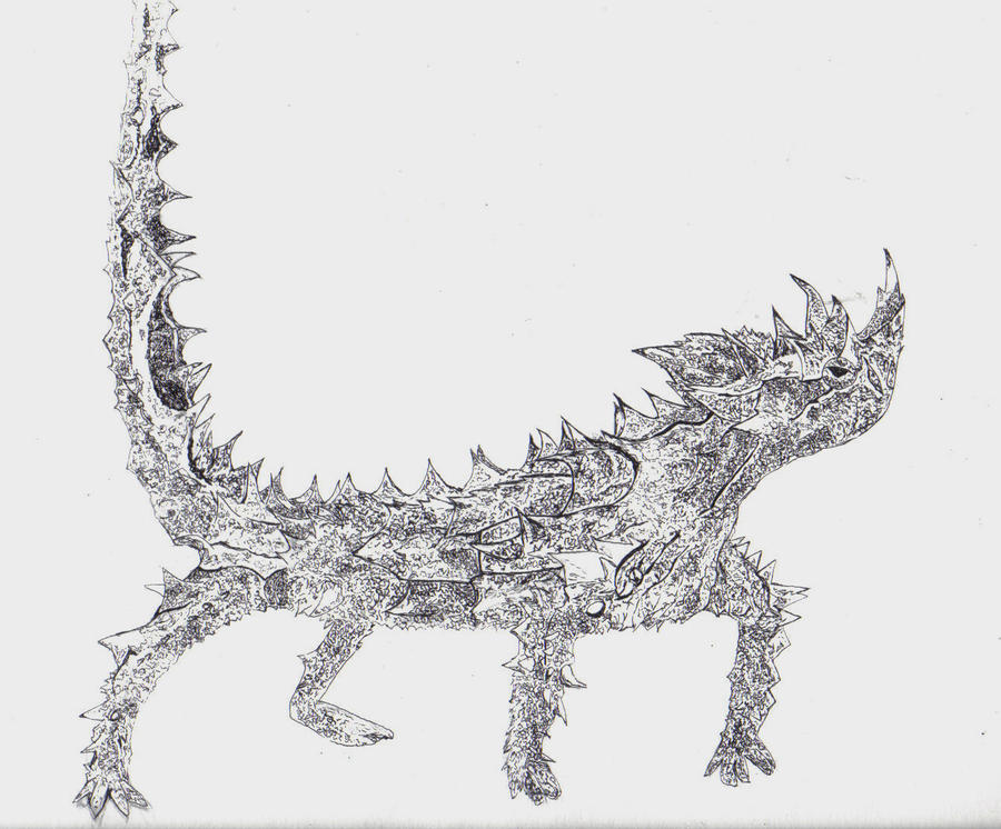 Moloch lizard by LadyKylin