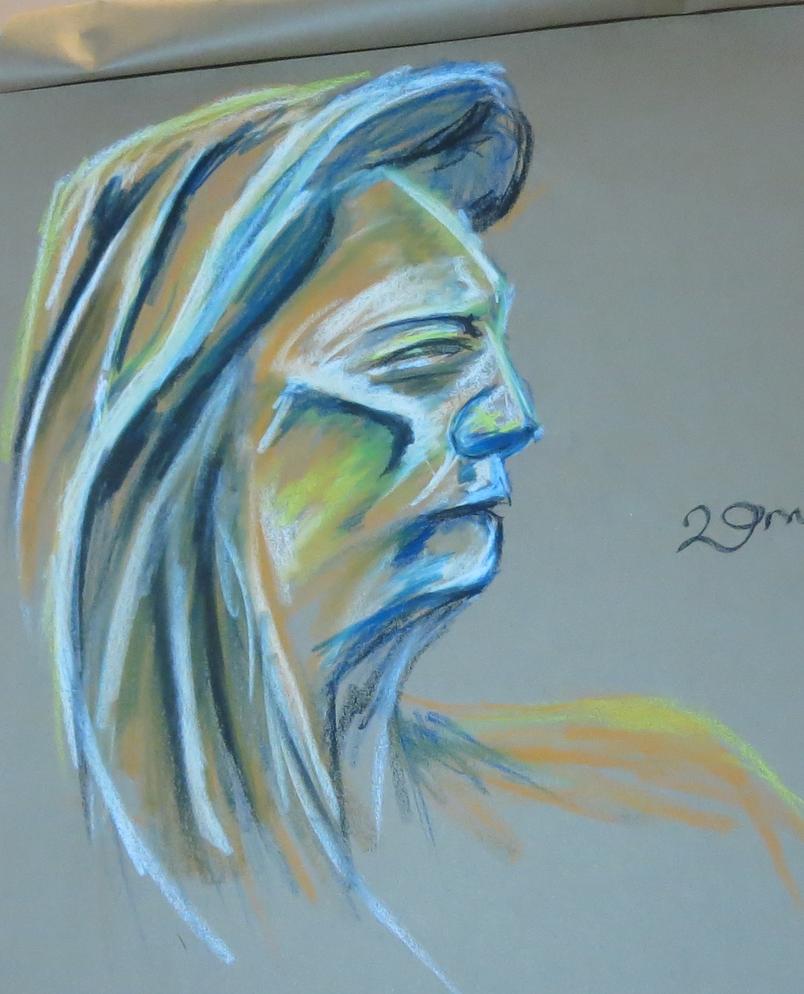 20 min life drawin portraite. by LadyKylin