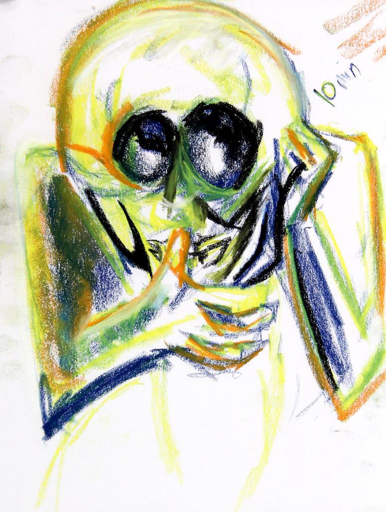Bug eyed alien by LadyKylin