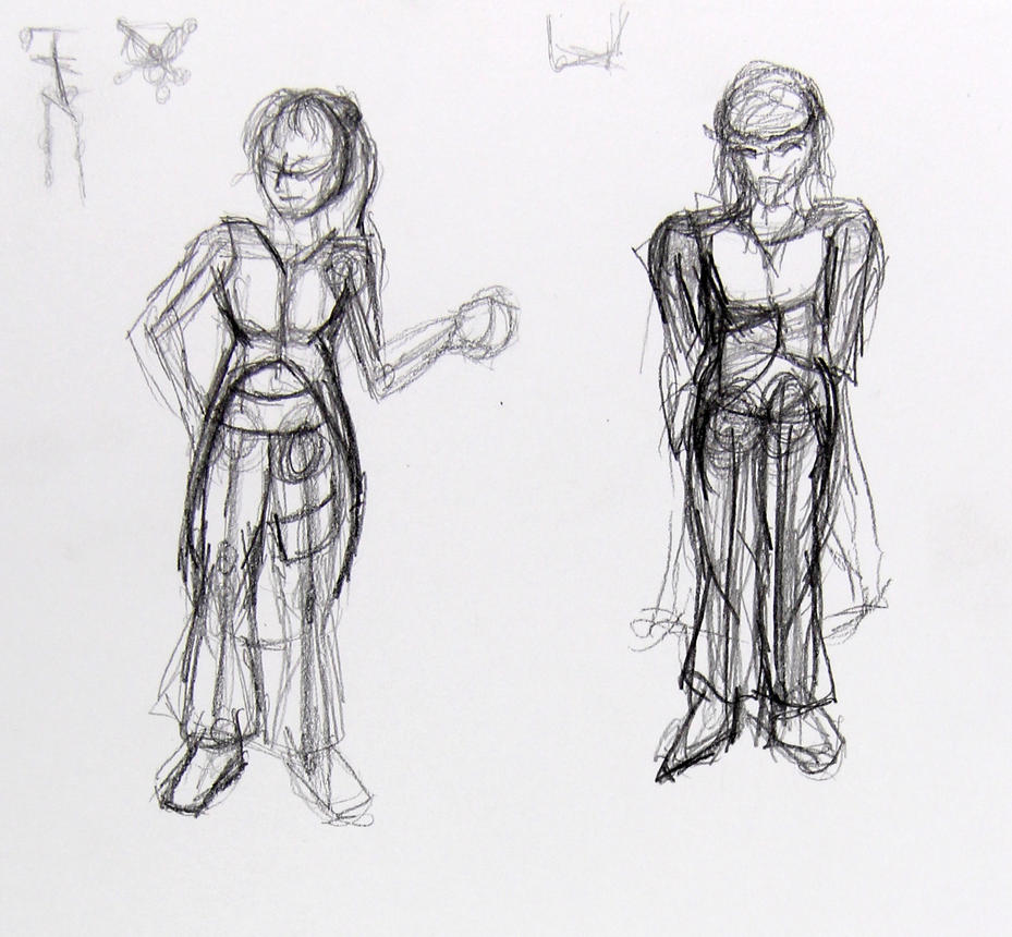 figure doddles by LadyKylin
