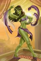 She-Hulk Belly Dancing by Didi-Esmeralda by cerebus873