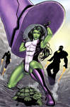 She-Hulk It ain't easy being green by Harpokrates