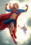 Supergirl Always Flexing  by ellinsworth