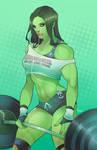 Muscles are a girls best friend by torqueartstudio