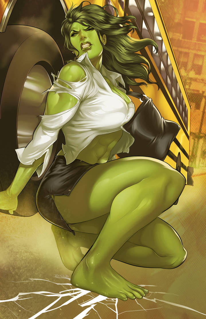 She-Hulk 3 by torqueartstudio