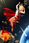 Supergirl Sunbathing by MSonia