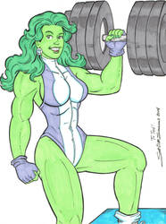She-Hulk By Scott D Simmons by cerebus873