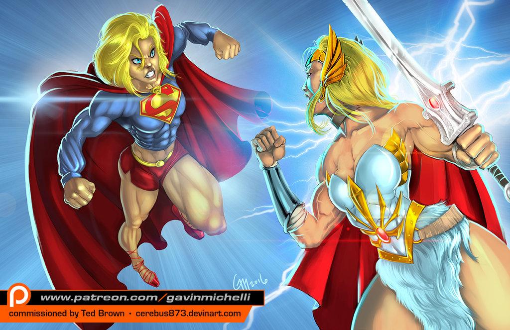 Supergirl V She Ra By Gavin Michelli