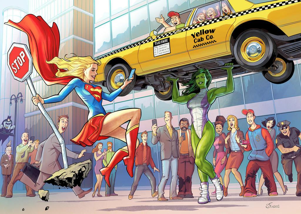 shehulk-and-supergirl-by-sergefiedos
