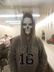 Stage Makeup: Fantasy (skull) by BethanySchatz