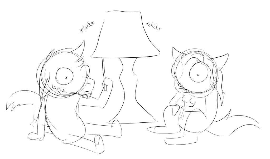 Contemplating Lamp by Toastpocalypse