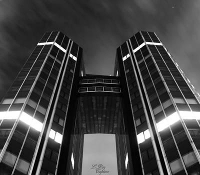(Night Building) La dfense - Twin Building