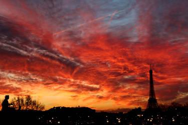 Sunset at Paris. by LewisRoy
