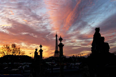 Another sunset at Paris. by LewisRoy
