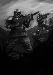Death squads Imperial Guard by Goottipoju
