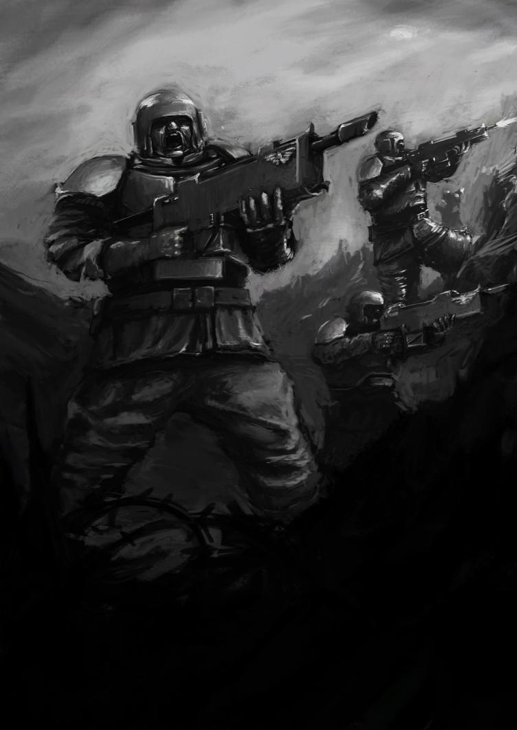 Art of Goottipoju Death_squads_imperial_guard_by_goottipoju-d58b9wz