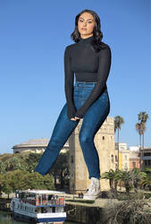 Giantess Camila Mendes by Alberto62