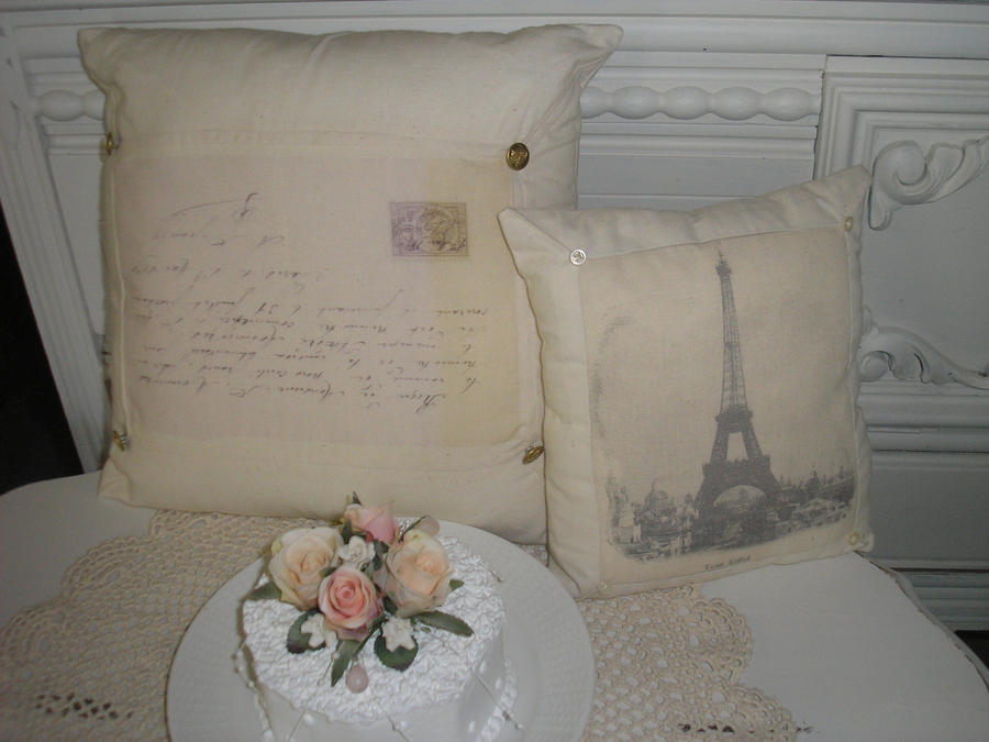French Shabby Chic Pillows : Shabby Chic French Pillows by Momnet2 on deviantART