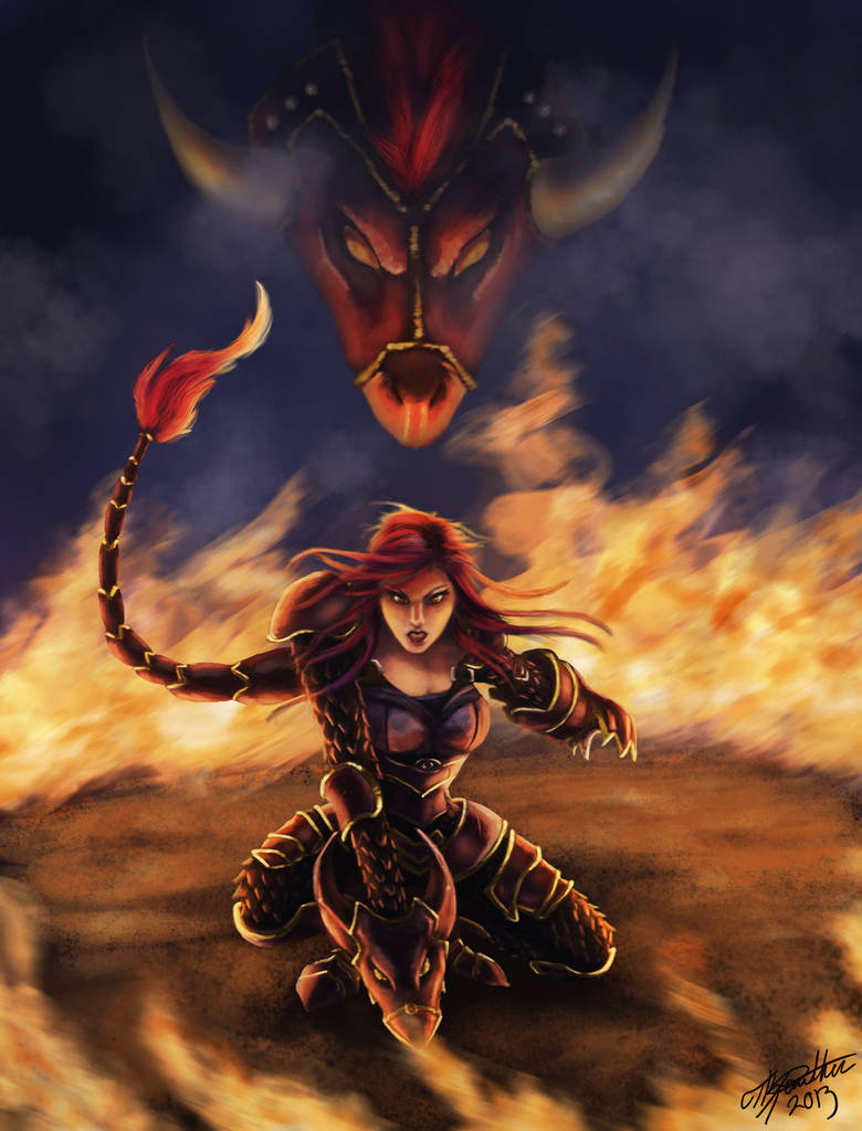 Iron Scale Shyvana By Tkpanther On Deviantart