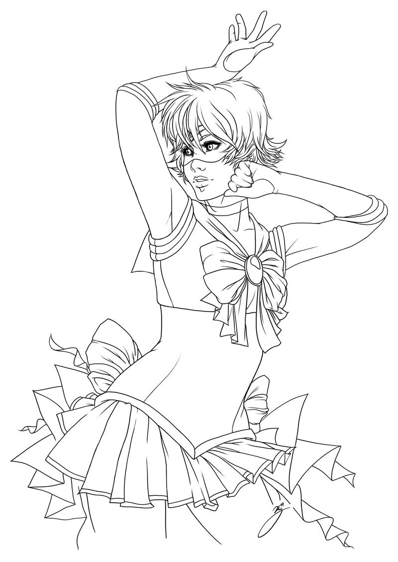 Sailor mercury lines by zeldyn on deviantart for Coloring pages mercury