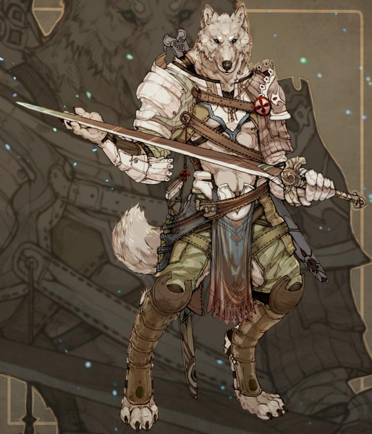 Armored Werewolf by WhiteRum
