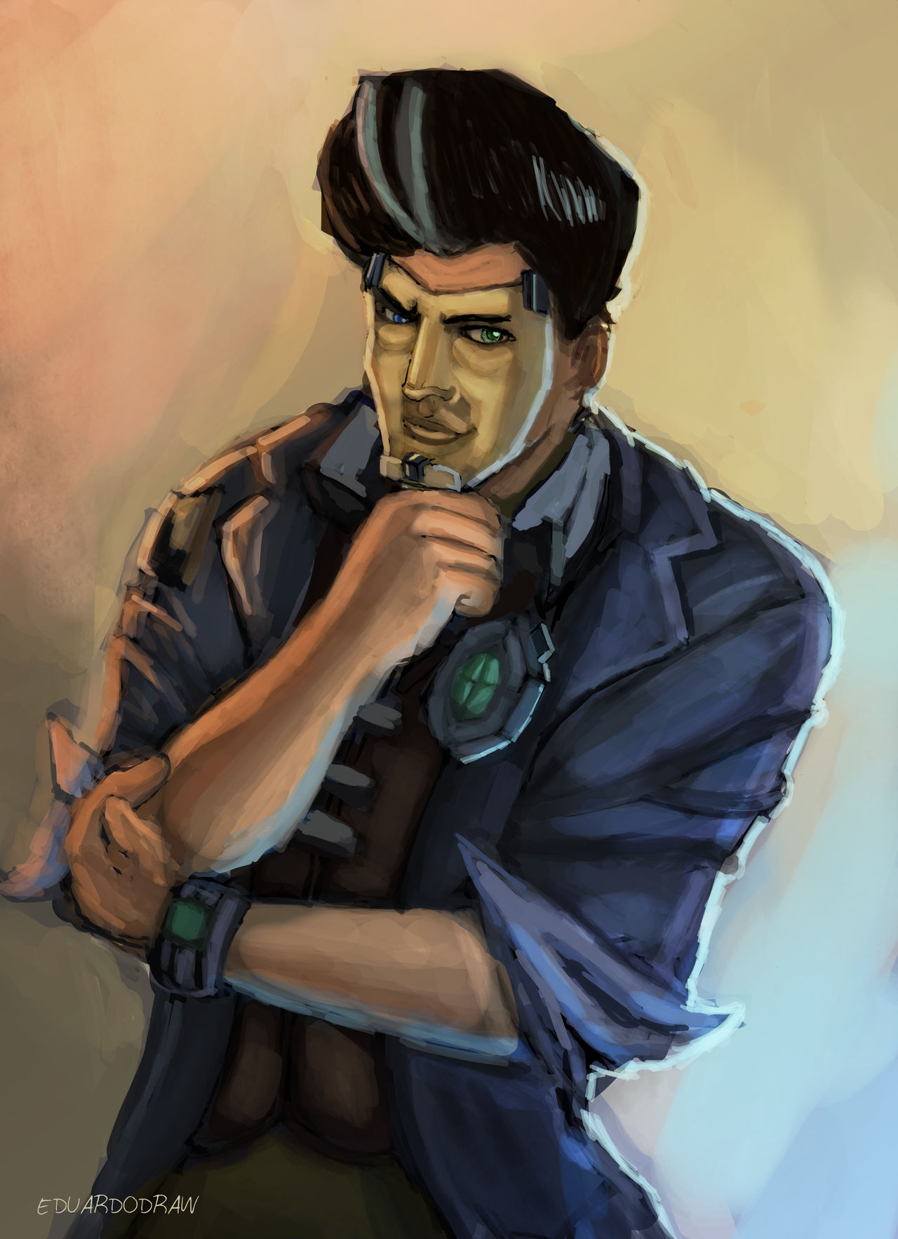 Jack El Guapo Handsome Jack Borderlands 2 Fan Ar By