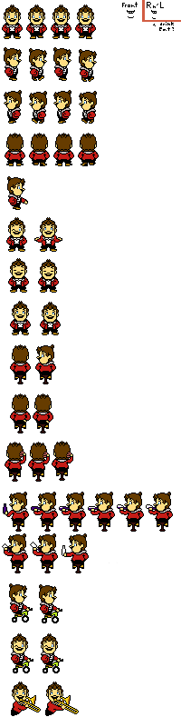 Mario Sprites (Undertale) by Heart-The-Legend