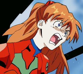 Asuka Langley Soryu On Eva 02 by BlazeCole