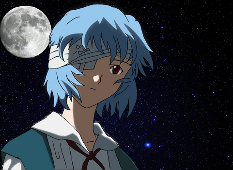 Rei Ayanami ( Fly me to the moon )