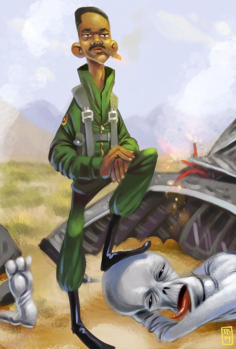 Sketch Dailies: Capt. Steven Hiller by TimBeard