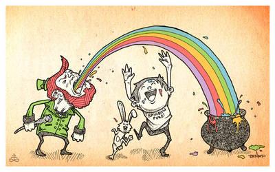 Rainbow Puke No. 2 by TimBeard