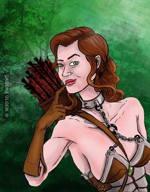 Warrior woman No:10 by cagdasulgen